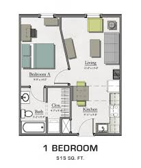 Bedroom Plans Floor Plans For Msu Students Student Housing In East Lansing