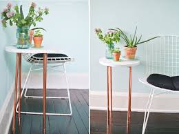 Coffee Tables For Small Spaces by This Diy Copper Pipe Side Table Is Perfect For Small Spaces Via