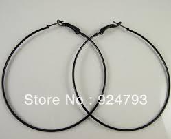 black hoop earrings online get cheap black 50mm hoop earrings aliexpress