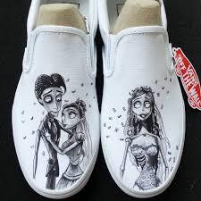 tim burton corpse bride custom made shoes artwork and shoes