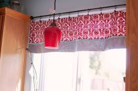 Red Kitchen Curtain by Red Kitchen Curtains And Valances Modern My Kitchen Remodel