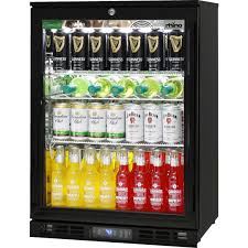 glass door commercial alfresco bar fridge with lg compressor