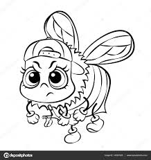 vector angry bee coloring page u2014 stock vector sunnyws 143201523