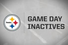 brown s day steelers inactives for vs browns
