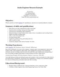 Resume Sample Format For Engineers by Sound Engineer Resume Sample Free Resume Example And Writing