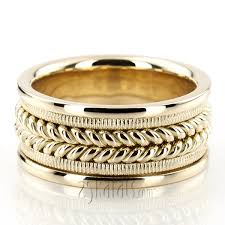 braided wedding band made wedding bands braided two tone wedding bands gold