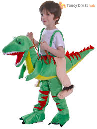 kids dinosaur costume ride on riding step world book week day boys