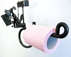 Animal Toilet Paper Holder Dog Toilet Roll Holder With Dog Sitting On Toilet