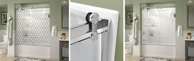 contemporary style sliding tub door installation
