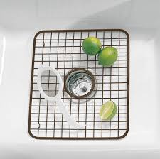 InterDesign Kitchen Sink Grid Rack And Sponge Holder Caddy Oil - Kitchen sink grid