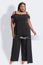 plus size jumpsuit cold shoulder jumpsuit black monif c plus size clothing