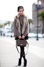 15 ways to rock a faux fur vest in winter styleoholic