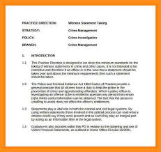 14 witness statement letter sample agenda example