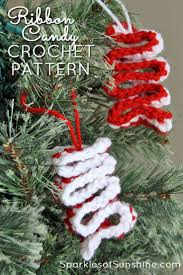 easy crochet ribbon candy christmas ornament with free pattern