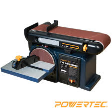 powertec bd4600 woodworking belt disc sander 4 inch by 6 inch
