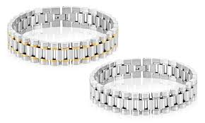 solid stainless steel bracelet images Men 39 s president inspired link bracelet in solid stainless steel jpg