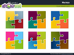 matrix with jigsaw puzzle pieces for powerpoint