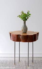 home design glamorous tree slice table live edge side with l