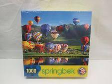 balloon bonanza springbok 1000 pc puzzle balloon bonanza 1jig10548 ebay