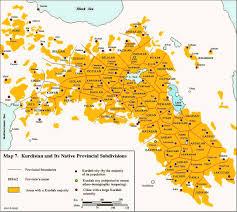 Kurdistan Map Historical Kurdistan