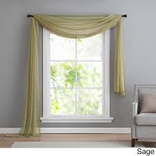 Black Scarf Valance Vcny Infinity Sheer Window Scarf Valance Free Shipping On Orders