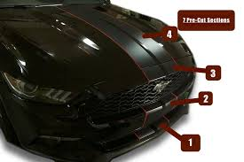Black Mustang With Stripes Matte Glossy Diamond White Pre Cut Dual Racing Stripes 8 10 Inch
