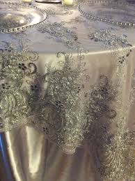 silver lace table overlay italian princess lace tablecloth overlay silver textured fabrics
