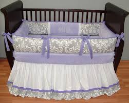 nursery beddings lavender and white baby bedding plus lavender
