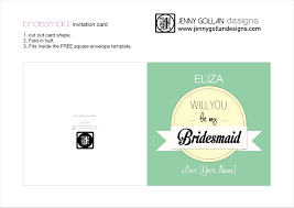card bridesmaid card template