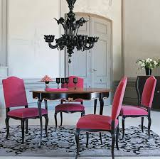 Modern Glamour Home Design Decorating Exciting Modern Glam Fuchia Chairs Dining Room Rustic