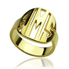 Monogram Rings Gold Compare Prices On Initial Rings Gold Online Shopping Buy Low
