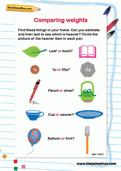 weights and measures worksheets and information for primary