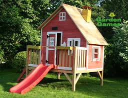 Exterior Decoration Lovely Design Exterior Decoration Ideas With Garden Playhouses For