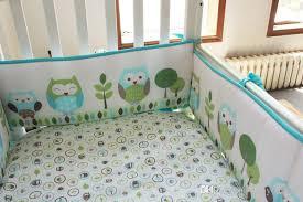 Crib Bedding Green Sale Baby Bedding Set Embroidery Owls Bird Hedgehog