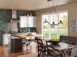 kitchen design teal accent paint color for modern rustic kitchen