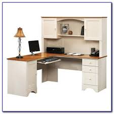 white computer desks with hutch beautiful small l shaped computer