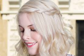 how to do a waterfall braid on short hair youtube
