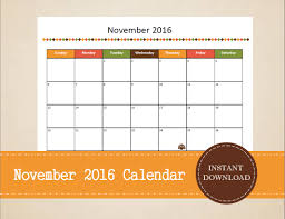 2016 printable thanksgiving calendars happy thanksgiving
