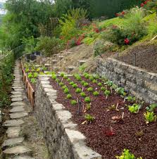 hillside garden ideas landscape craftsman with slope retention