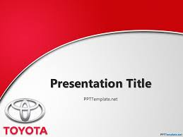 powerpoint themes free cars toyota with logo ppt template