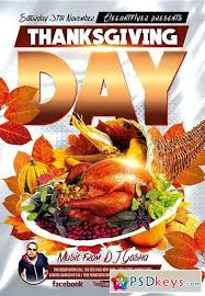 thanksgiving day 3 flyer psd template cover free