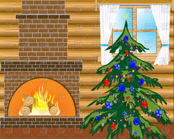 Christmas Tree Images Clipart Room With Fireplace And Festive Christmas Tree Royalty Free Vector