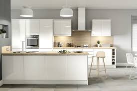 white gloss kitchen doors integrated handle white clean and simple kitchen units