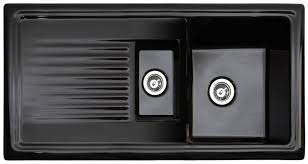 reginox black kitchen sink with drainer 1 5 bowl reversible