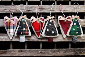 simple flannel ornaments lil