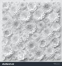 Wedding Wall Decor 3d Render Digital Illustration White Paper Stock Illustration