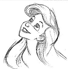 walt disney sketches princess ariel walt disney characters