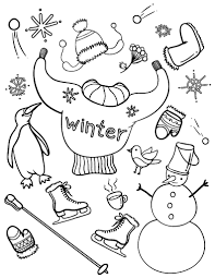 free winter coloring