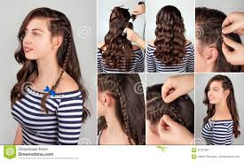 hair tutorial hairstyle for long hair tutorial stock image image 70187841