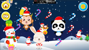 baby panda merry christmas party on christmas eve food persent